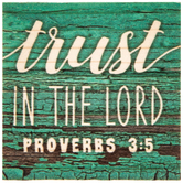 Proverbs 3:5 Wood Magnet