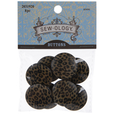 Leopard Print Shank Buttons