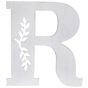 White Vine Letter Wood Wall Decor - R