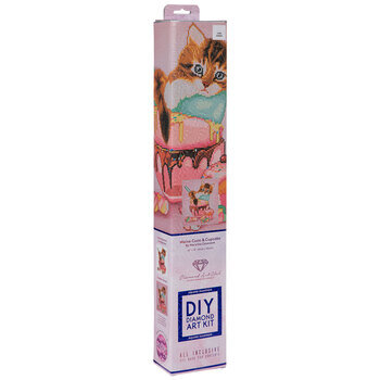 Cat & Cupcake Square Diamond Art Kit