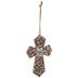 Faith Over Fear Wood Wall Cross