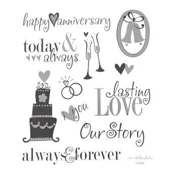 Silver Foil Anniversary Stickers