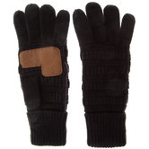 Black C.C. Knitted Tech Gloves