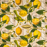 Lemon Novelty Duck Cloth Fabric
