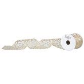 "Glitter Swirl Wired Edge Sheer Ribbon - 2 1/2"""