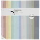 "Textured Cardstock Paper Pack - 12"" x 12"""