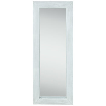 Whitewash Wood Wall Mirror