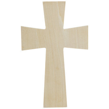 Squared Baltic Birch Wood Wall Cross - Extra Small