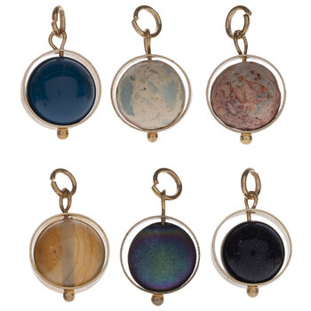 Planet Bead Charms