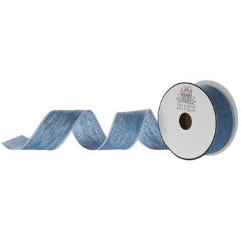 "Denim Woven Ribbon - 1 1/2"""