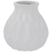 White Geometric Vase