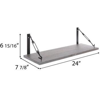 Gray Industrial Barnwood Wall Shelf