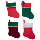 Red & Green Mini Felt Stockings