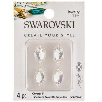 Crystal Fire Navette Sew-On Flatback Crystals