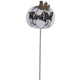 Thankful Pumpkin Metal Pick