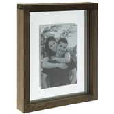 """Brown Unity Sand Wood Float Frame - 8"""" x 10"""""""