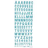 Aqua Epoxy Alphabet Stickers