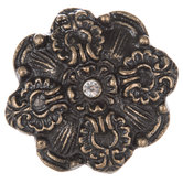 Antique Bronze Flower Metal Knob