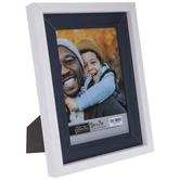 "White & Blue Wood Look Frame - 5"" x 7"""