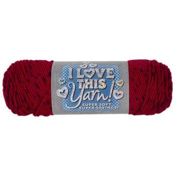 Red Tweed Print I Love This Yarn