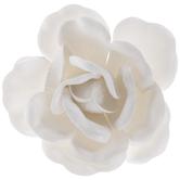 """White Flowers Adhesive Wall Art - 4"""""""