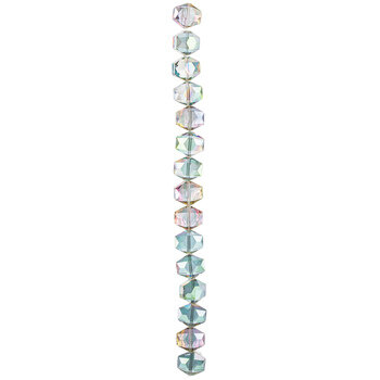 Rainbow Faceted Glass Bead Strand