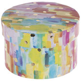 Rainbow Round Box With Gold Speckles