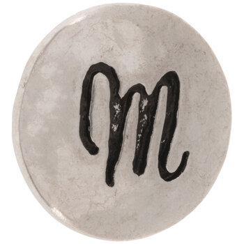 Hammered Alphabet Snap Charm - M
