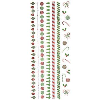 Cutesy Christmas Border Stickers