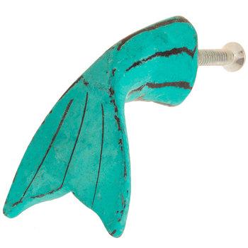 Blue Fish Tail Metal Knob