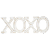 Whitewash XOXO Decor