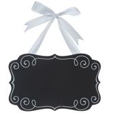 Black Quatrefoil Chalkboard Decor