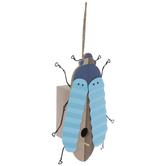 Blue Beetle Wood Birdhouse