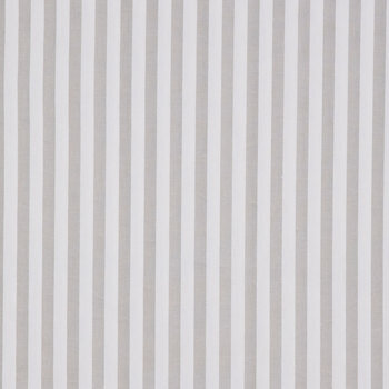 French Gray & White Striped Duck Cloth Fabric