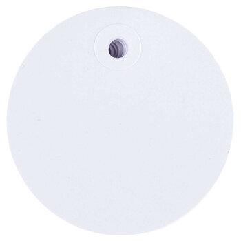 Large Blank Circle White Designer Tags