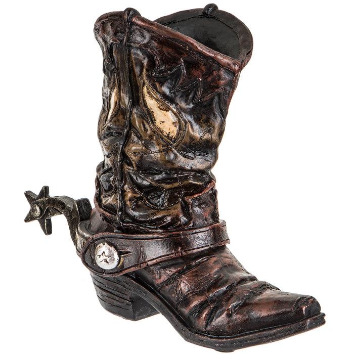 Brown Cowboy Boot Vase | Hobby Lobby