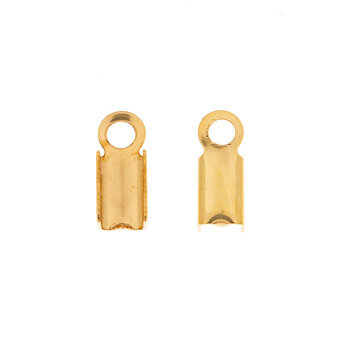 18K Gold Plated Cord Crimps - 9mm
