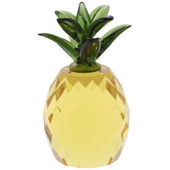 Yellow & Green Faceted Glass Pineapple