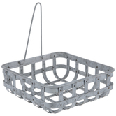 Galvanized Metal Woven Napkin Holder