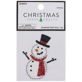 Snowman Rhinestone Sticker