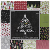 """A Very Merry Christmas Paper Pack - 6"""" x 6"""""""