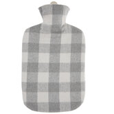 Gray Check Hot Water Bottle