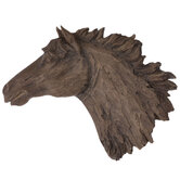 Brown Horse Head Wall Decor