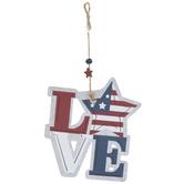 Red, White & Blue Love Star Ornament