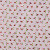 Pink & Red Rose Cotton Calico Fabric