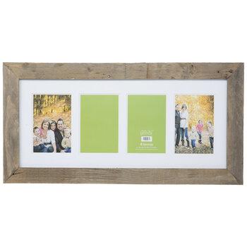 Gray Barnwood Collage Wall Frame