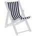 Blue & White Striped Beach Chair
