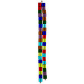 Multi-Color Glass Cube Bead Strands