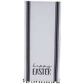Ticking Striped Happy Easter Table Runner