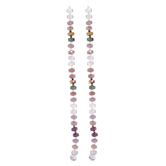 Faceted Glass Disc Bead Strands